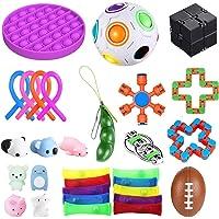 bopel 30 Pcs Sensory Fidget Toys Set, Stress Relief and Anti-Anxiety Tools Bundle Toys Assortment,Stocking Stuffers for…