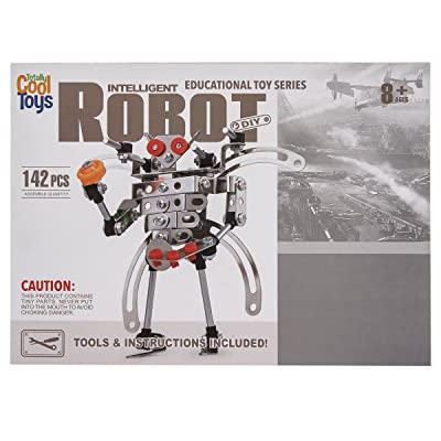 Totally Cool Toys Educational Toy Series Intelligent Robot DIY Kit (142 Pieces): Toys & Games