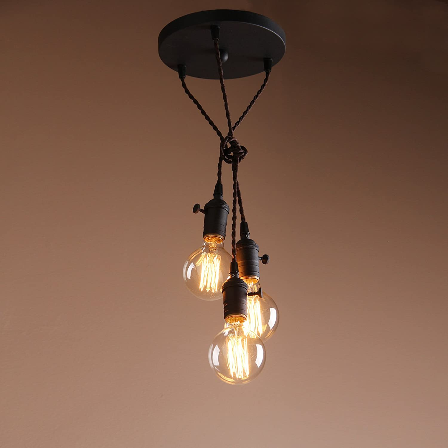 factory bronze product steampunk chandelier suspended lamp light bulb