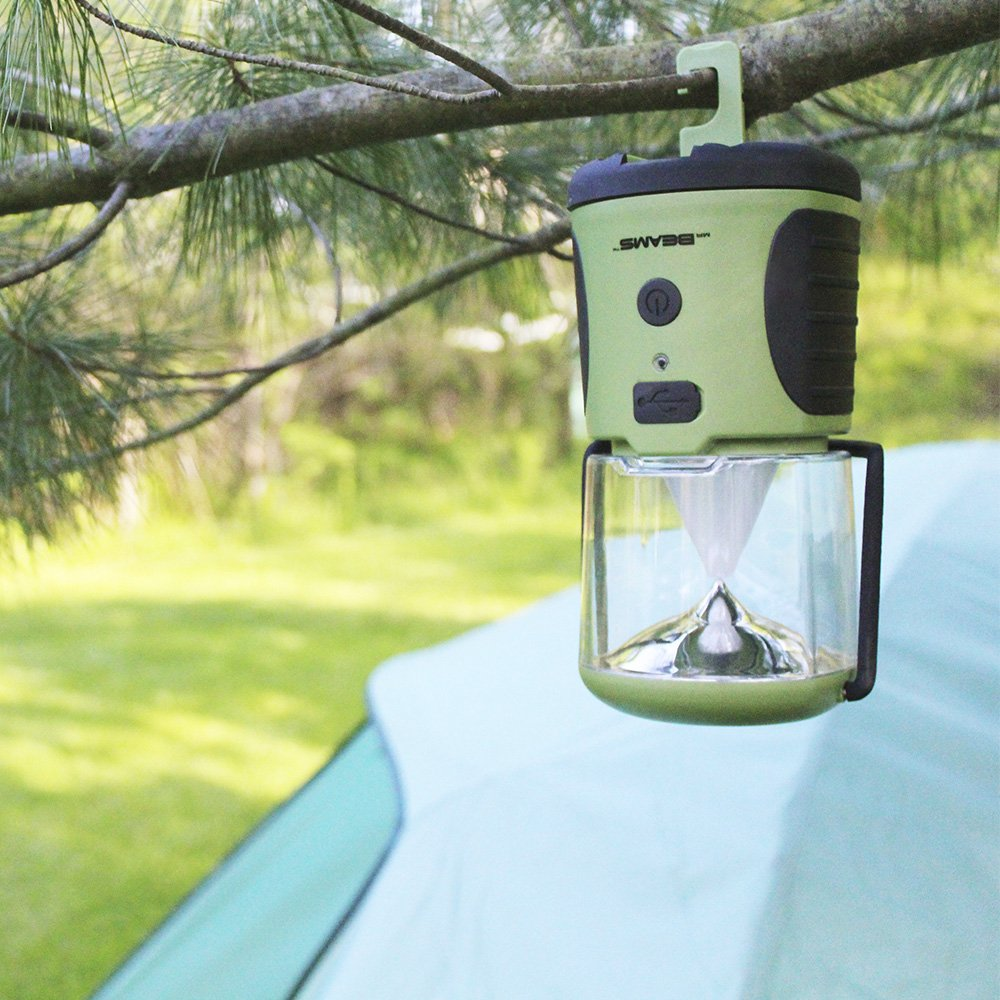 Mr. Beams MB472 UltraBright 260 Weatherproof Lumen LED Lantern with USB Port as a Backup Battery Charger, Green, 2-Pack by Mr. Beams (Image #4)