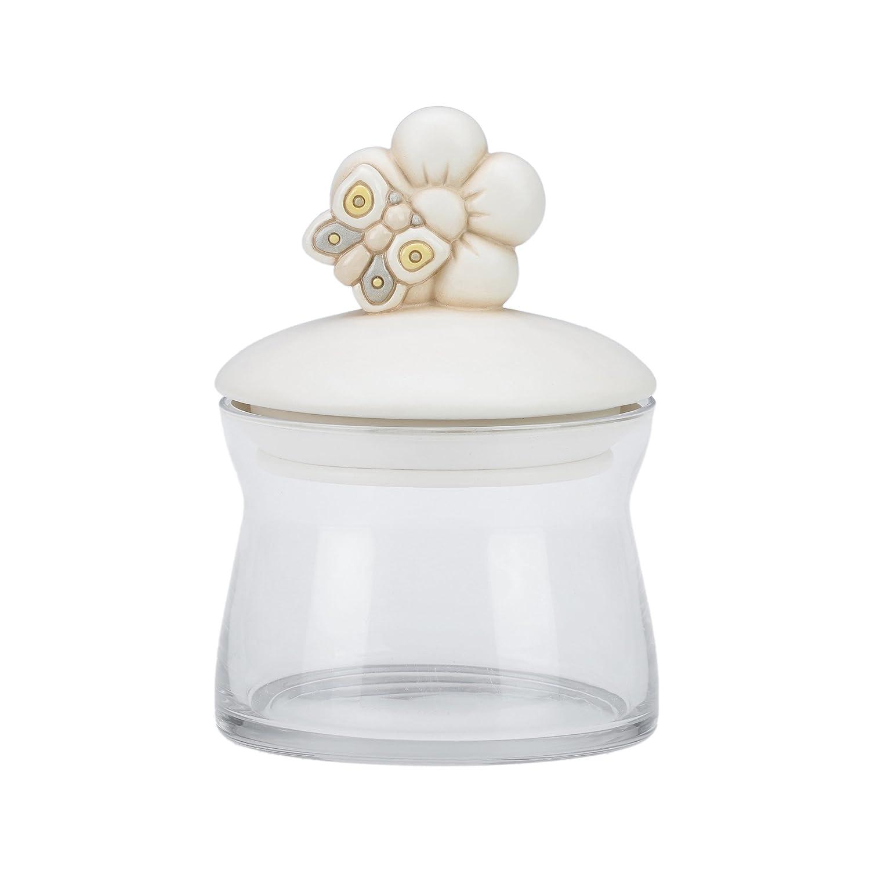 THUN Barattolo in vetro medio Elegance ceramica, vetro, gomma 15 cm h