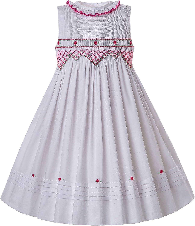 Pettigirl Girls Ranking TOP12 Sundress Hand Smocked Fresno Mall Dress Sleeveless wi Ruffle