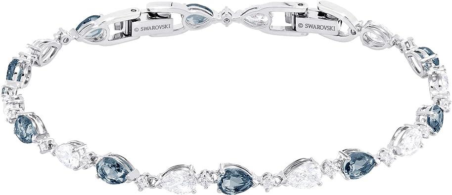 Bracelet Swarovski Vintage, cristal bleu, métal rhodié, pour femme ...