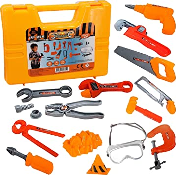 Kids Childrens Childs Toy Builder Construction Kit Boys Building Tool Play Set T