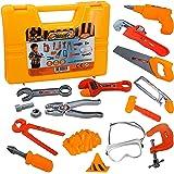 Childrens Work Bench Play Set DIY Builder Construction Toy Tool Kit Hard Hat