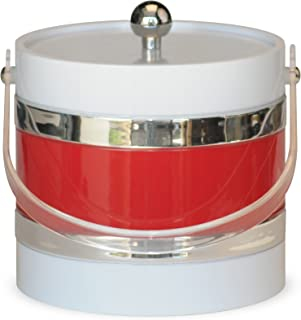 product image for Mr. Ice Bucket Ice Bucket, 3-Quart, White with Red Center