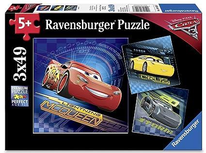 abbde617a13 Amazon.com: Ravensburger Disney Cars 3 3 X 49 Piece Jigsaw Puzzle ...