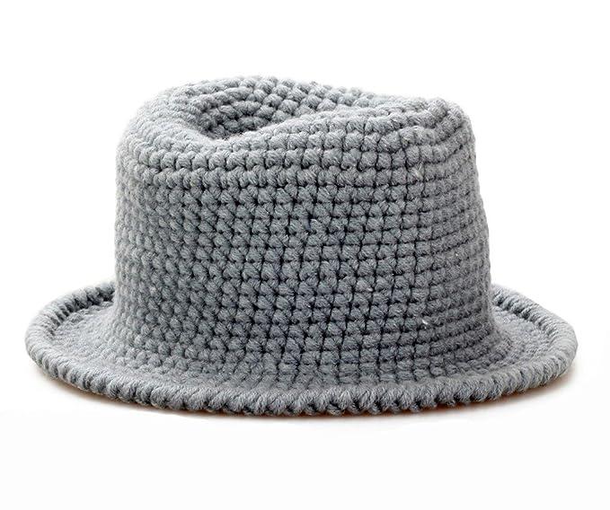 bestknit bebé mano Crochet tejer bebé sombrero Beanie Gris gris Talla única: Amazon.es: Ropa y accesorios