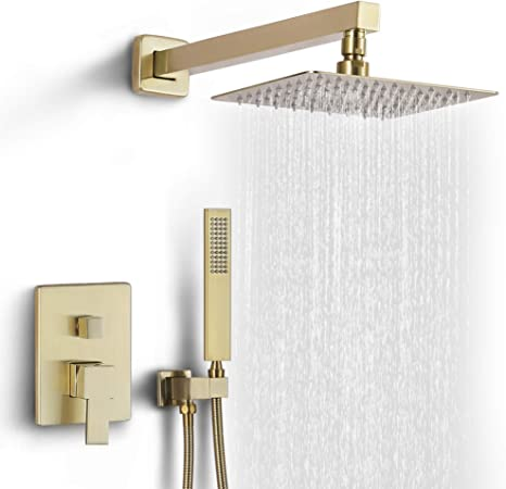 Dr Faucet Rain Shower System With Handheld Wall Mounted Shower