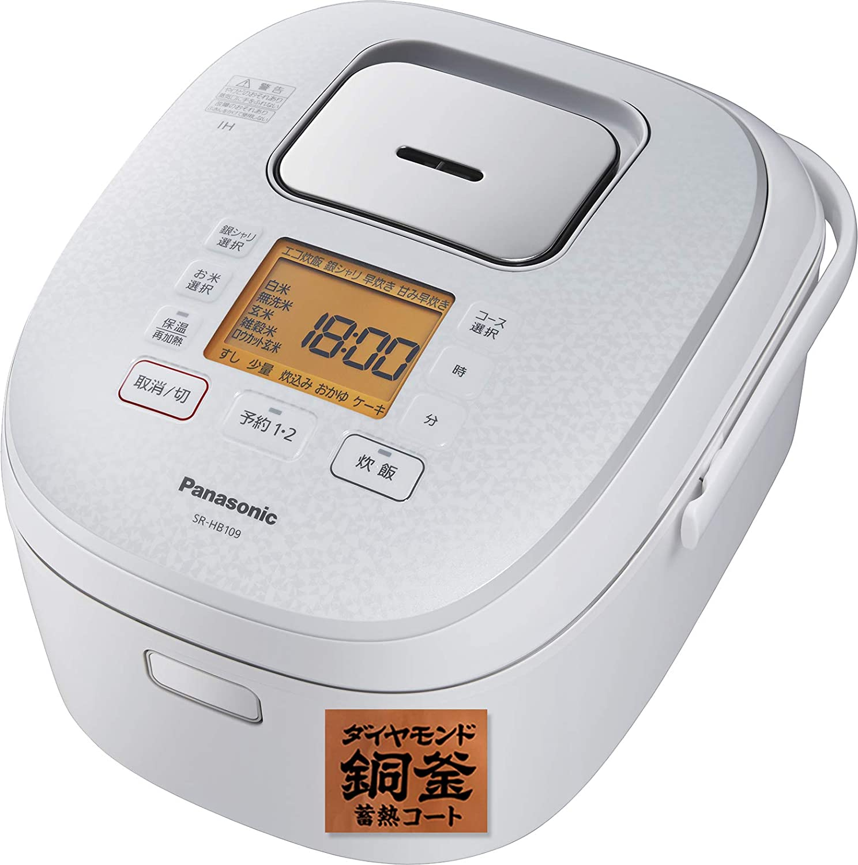 パナソニック 炊飯器 5.5合 IH式 ホワイト SR-HB109-W