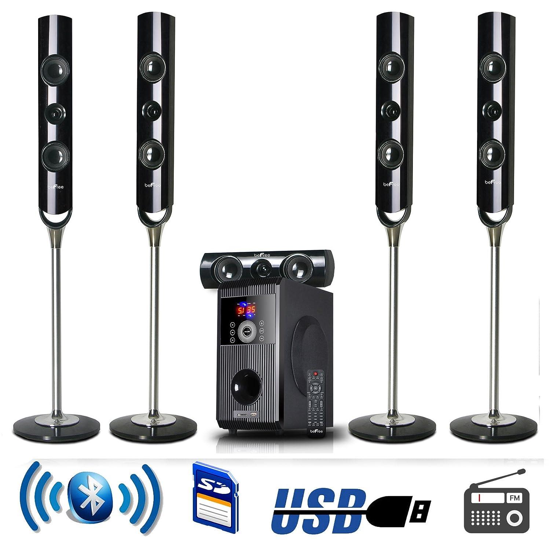 new 5 1 channel home surround sound theater speaker system. Black Bedroom Furniture Sets. Home Design Ideas
