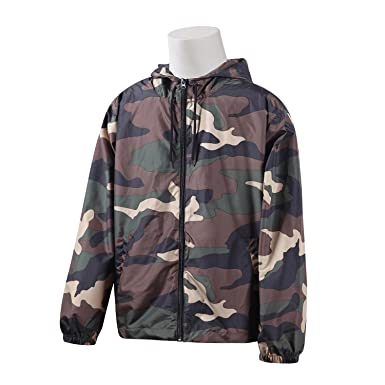 1d9d528ff9a2d Beautiful Giant Men's Camo Print Active Hoodie Jacket Lightweight  Windbreaker F16WD007R(S,Camo)
