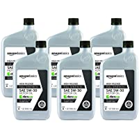 $26 » AmazonBasics High Mileage Motor Oil - Full Synthetic - 5W-30 - 1 Quart - 6 Pack