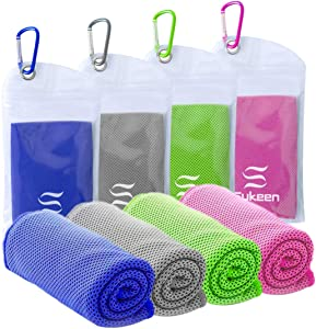 """Cooling Towel(40""""x12"""") Microfiber Towel Yoga Towel for Men or Women Ice Cold Towels for Yoga Gym Travel Camping Golf Football & Outdoor Sports"""