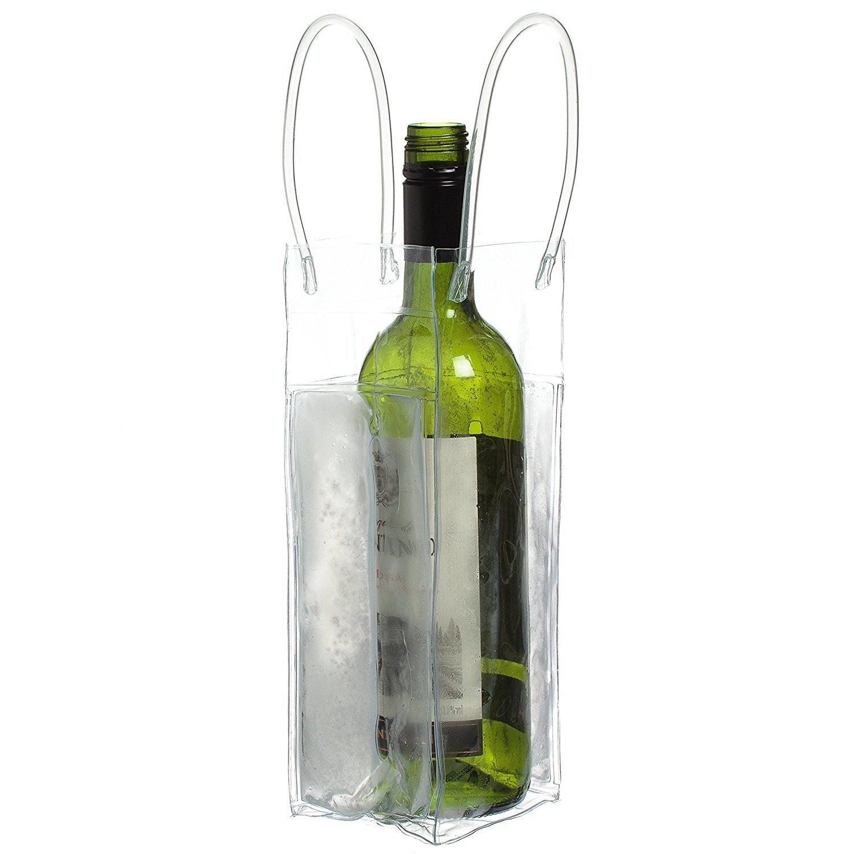 Ckb Ltd® Chill borsa tote bag vino glacette champagne gel ghiaccio trasparente protettiva vettore