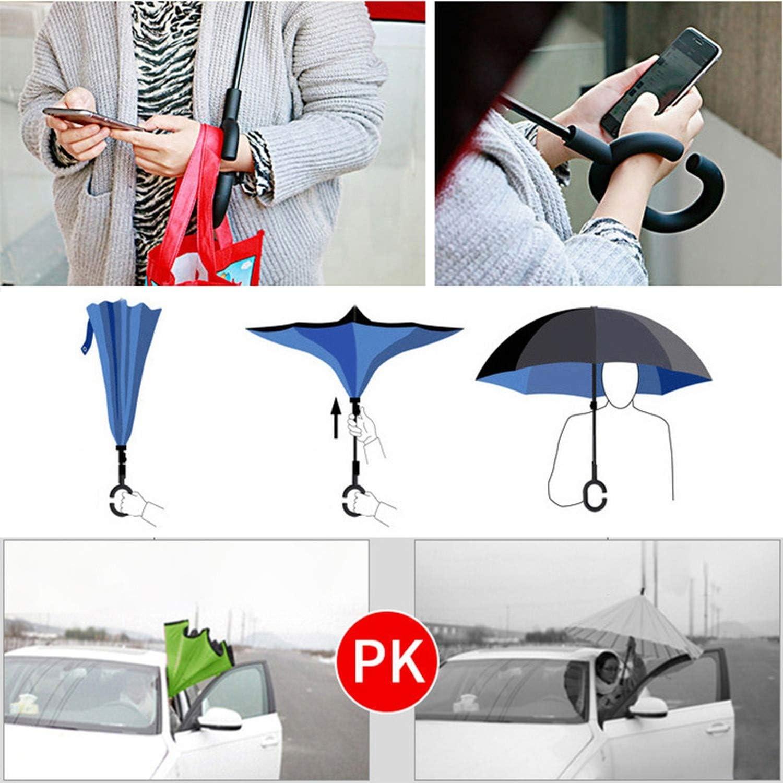 Reverse Umbrella Inverted Anti Uv Umbrella Man Umbrellas C Handle Windproof Women Sun And Rain Invertido Paraguas Parapluie,Star Sky