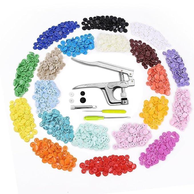 58 opinioni per Bottoni a Pressione (300 di kit) e Pinze in Metallo, Aodoor Bottoni 20 Colori T5