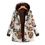 Caopixx Women Outwear Winter Warm Thicken Hooded