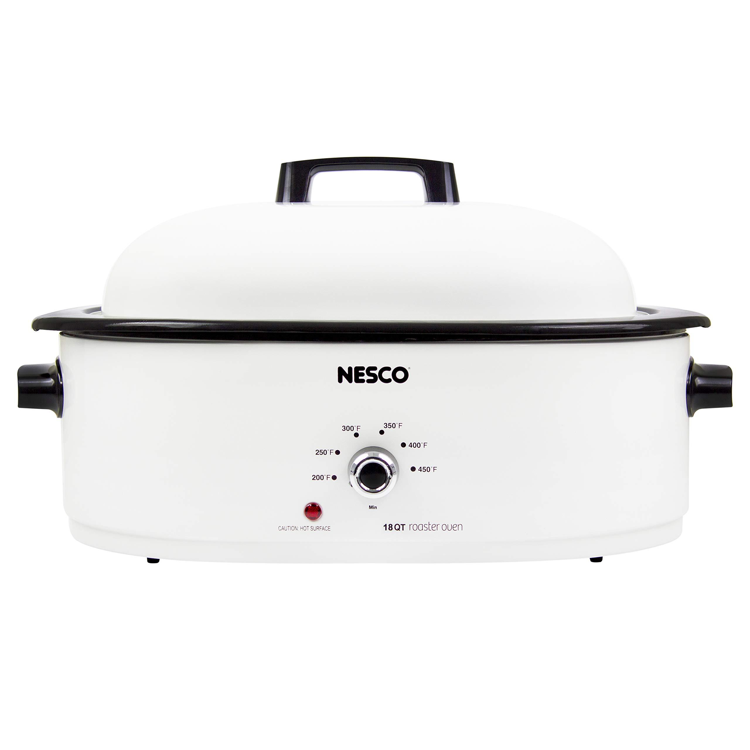 NESCO MWR18-14 Roaster Oven 18 Quarts, White by NESCO