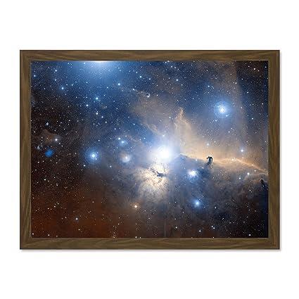 Various Sizes Space Stars Nebula Framed Large CANVAS ART PRINT