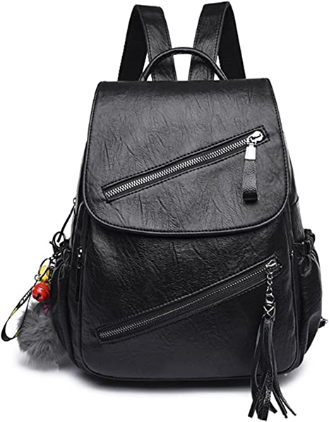 PU Leather Shoulder Bag,Christmas Gift Backpack,Portable Travel School Rucksack,Satchel with Top Handle