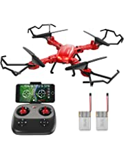 GoolRC T5W PRO 720P HD Camera Wifi FPV Foldable Drone RC Quadcopter Selfie One-key Return WithTwo Battery