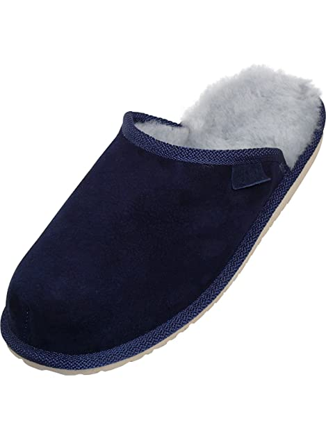 d2f3b62958ac29 Harrys-Collection Extra Dicke Lammfell Pantoffeln für Herren  Amazon ...