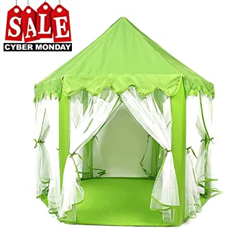 Play Tent Child Princess Castle Indoor and Outdoor Large Play House Game House Green  sc 1 st  Amazon.com & Amazon.com: Play Tent Child Princess Castle Indoor and Outdoor ...