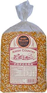 product image for Amish Country Popcorn | 6 lb Bag | Baby Yellow Popcorn Kernels | Old Fashioned with Recipe Guide (Baby Yellow - 6 lb Bag)