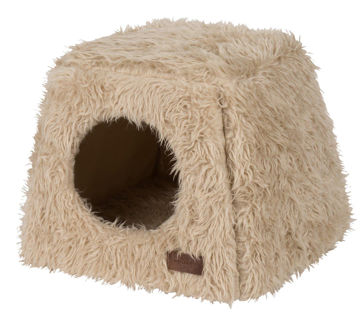 Wouapy Pyramid Deluxe - Caseta de Gato para Gatos, Color Beige: Amazon.es: Productos para mascotas