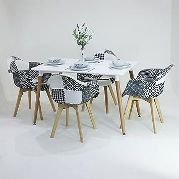 Genial P U0026 N Homewares® Fabia Ensemble De Table Et De Chaise En Patchwork En Noir  ...