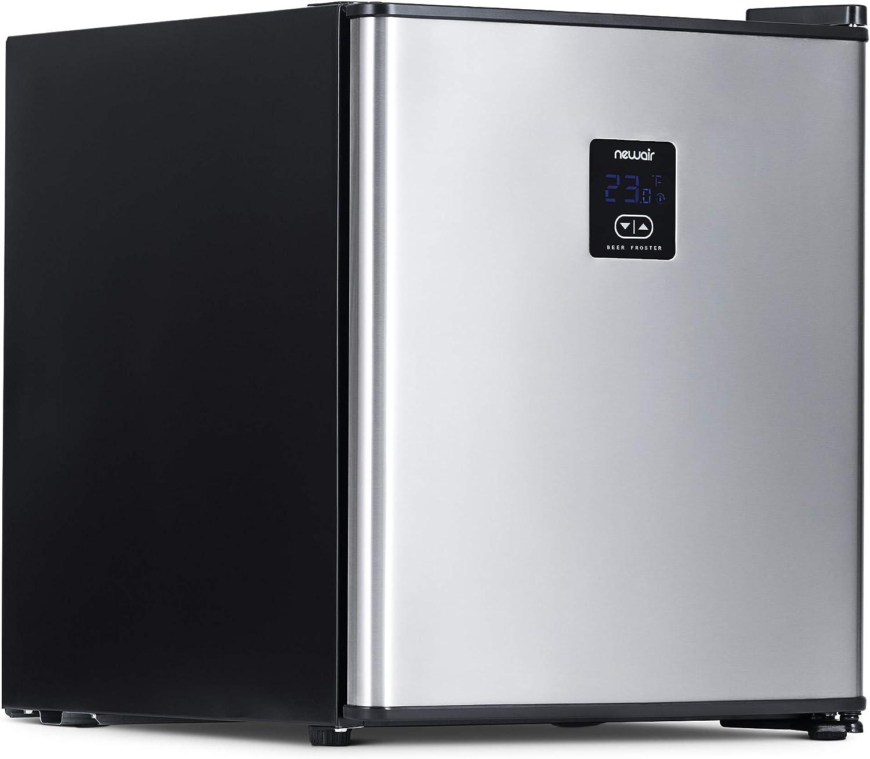 NewAir NBF046BK00 Free Standing Beverage Refrigerator, Stainless Steel, 46 Can