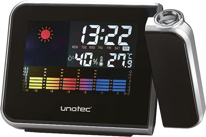 Unotec Estación Meteorológica con Reloj Proyector: Amazon.es ...