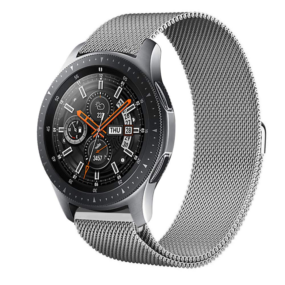 Lovewe Samsung Watch Band,Luxury Milanese Magnetic Loop,Stainless Steel Metal Bracelet,Wristband Strap For Samsung Galaxy Watch(42mm/46mm) (Silver, 42mm)