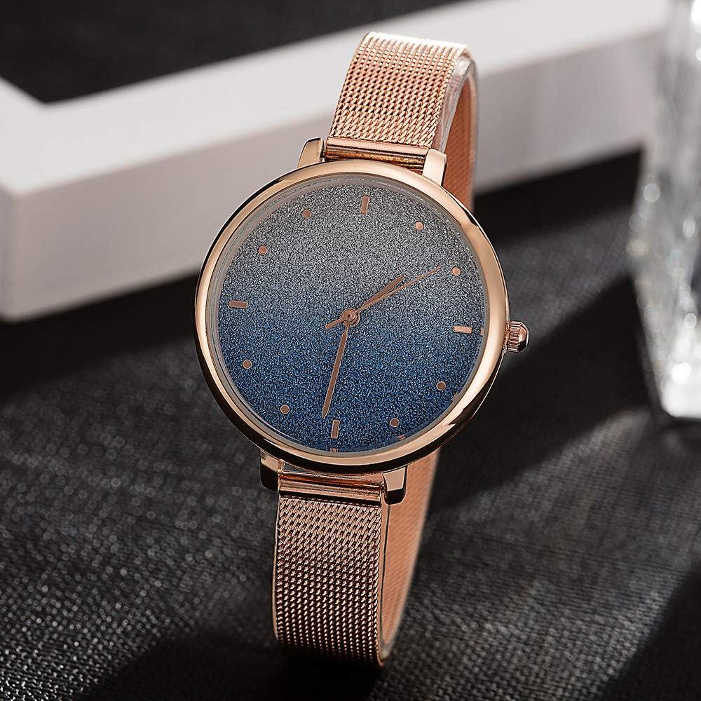 TCEPFS Venta al por Mayor Lady Quartz-Watches Design Gradually Changing Color Blue Star Sky Rose Gold Strap Relojes de Pulsera Tiempo