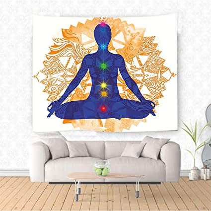 Amazon Com Nalahome Chakra Decor Silhouette Of An Body In Yoga