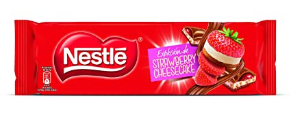NESTLÉ EXTRAFINO Strawberry Cheesecake - Tableta de Chocolate 240g