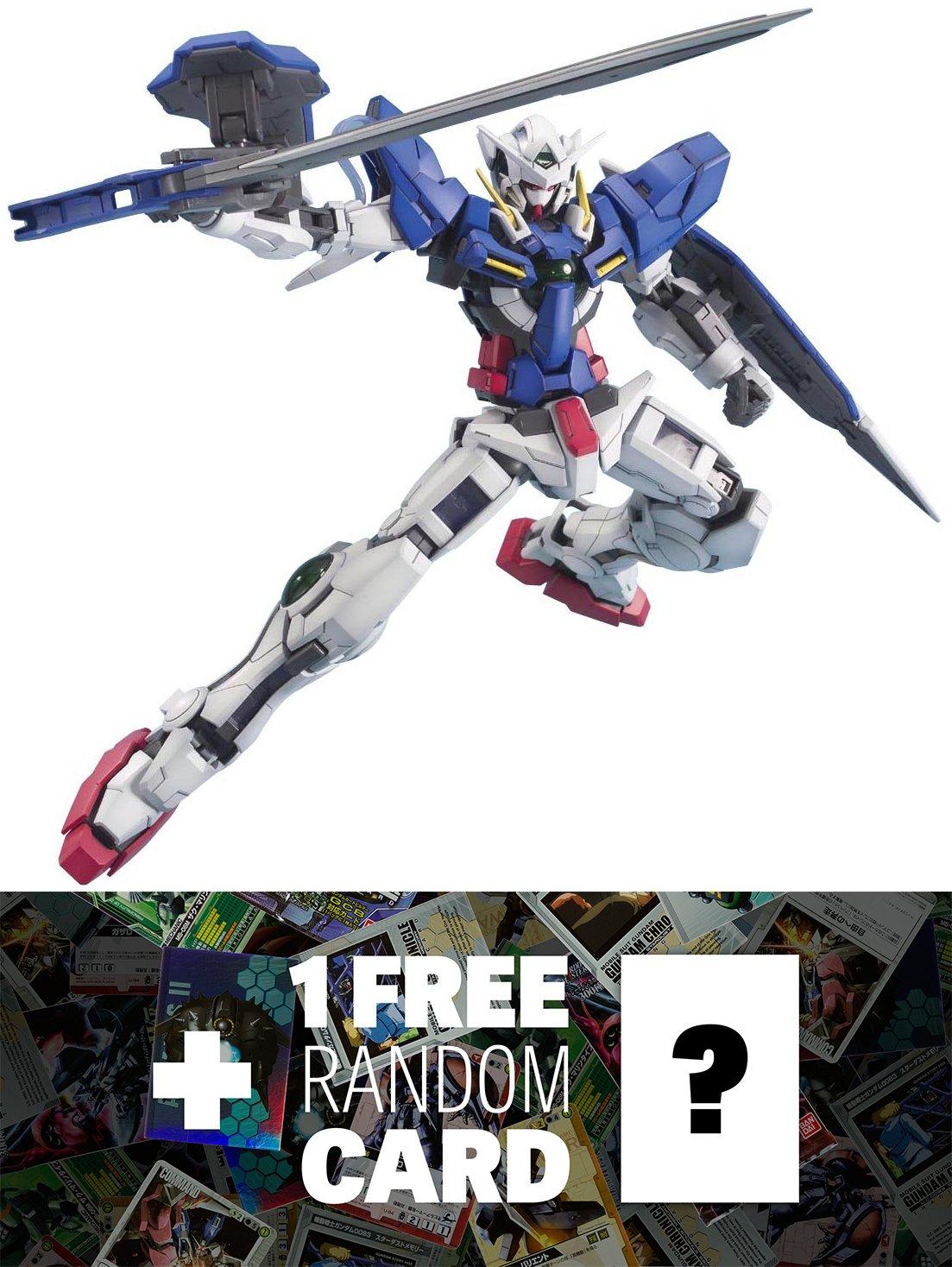 gn-001 Gundam Exia : MG GundamマスターGrade 1 / 100モデルキット+ 1 Free official Gundam Japanese tradingカードバンドル B00RUSR32I