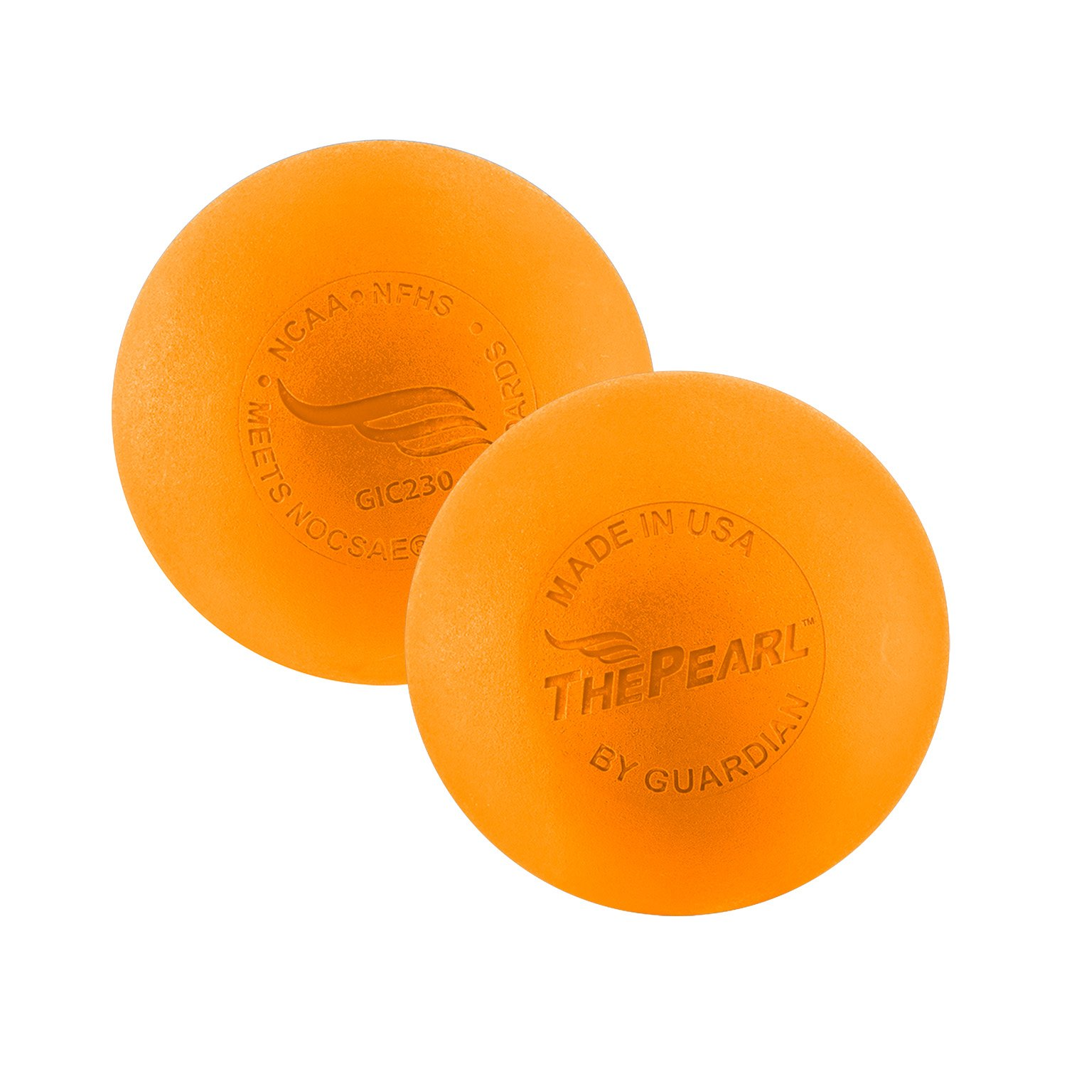 The Pearl by Guardian - Greaseless Lacrosse Balls (Orange, 10 Pack)