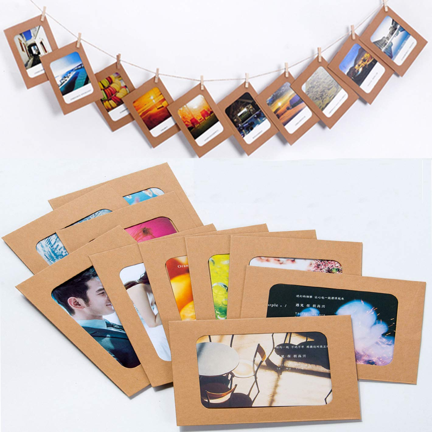 Ponerine Decorative Paper Collage Photo Picture Frames Simple Sturdy DIY Crafts Home Corridor Classroom Kindergarten Living Room Stairway