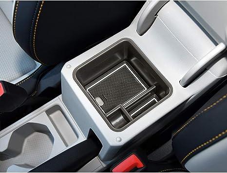 Bracciolo/&Vano Portaoggetti nella Console Centrale/&Vassoio(Bianca) SHAOHAO Per VW T-Cross SUV 2018