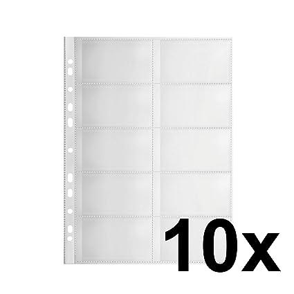 Original Falken 10er Pack Premium Pp Kunststoff Visitenkartenhüllen Für Din A4 Transparent Genarbt Mit 10 Fächern Klarsichtfolie Plastikhülle