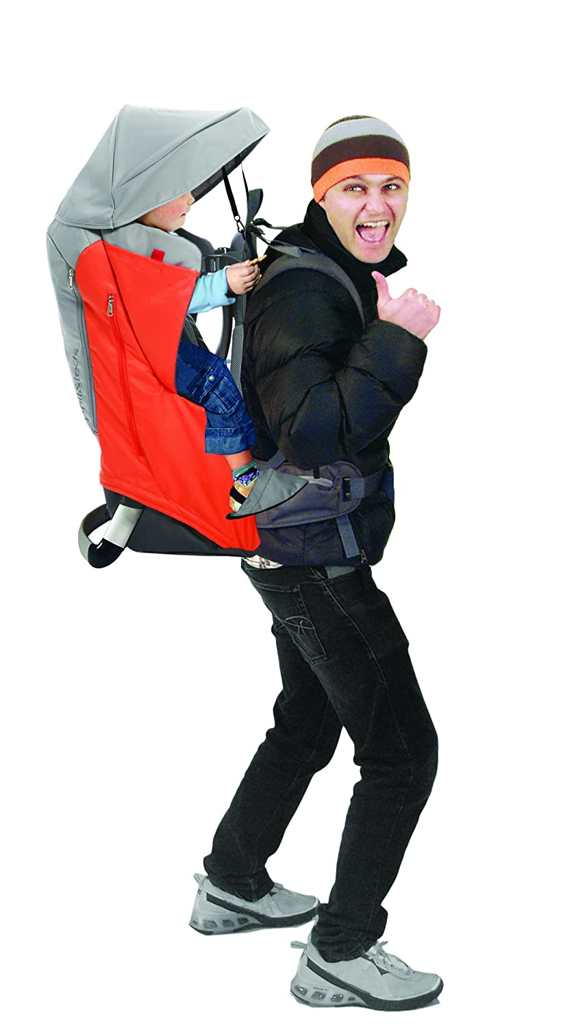 2 Year Guarantee Change Mat phil/&teds Escape Child Carrier Frame Backpack Articulating Dual Core Waist Belt Daypack 30L Storage Includes Hood Height Adjustable Body-Tech Harness Charcoal