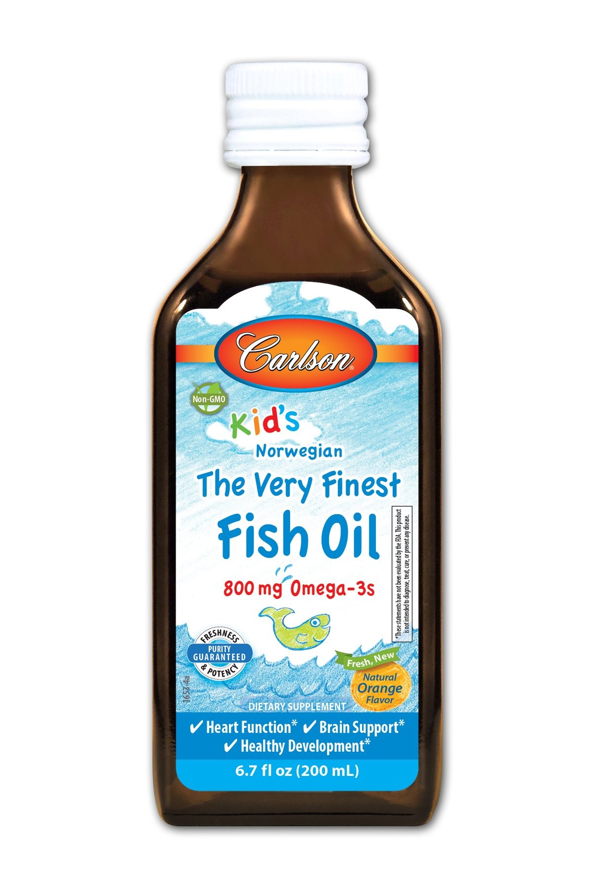 Carlson super daily d3 400 iu for kids fl for Daily fish oil