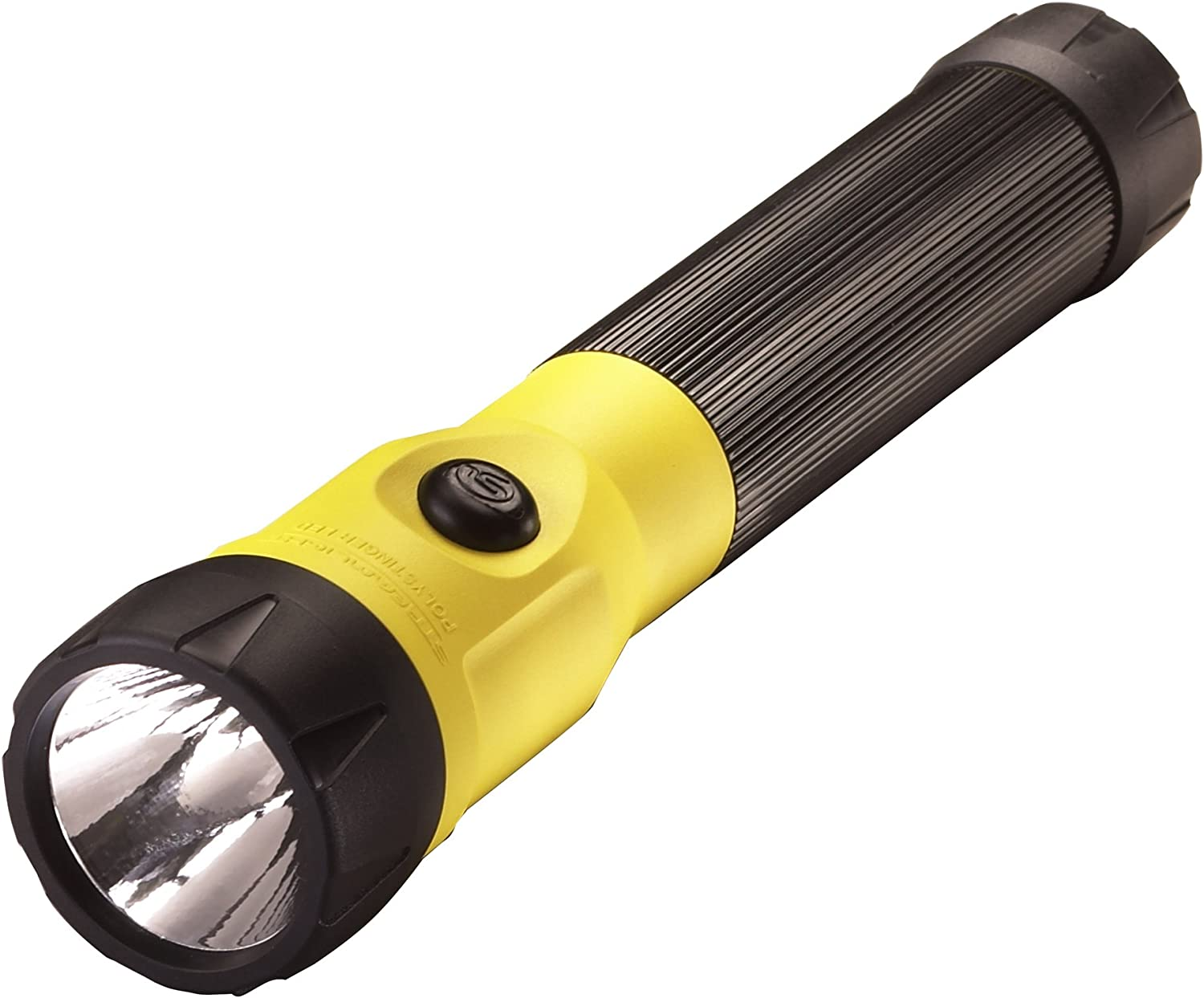 Streamlight 76163 PolyStinger LED Flashlight with 120-Volt AC/DC Charger and 2-Holders, Yellow - 485 Lumens