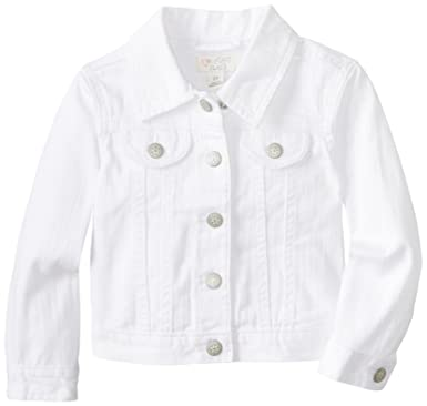 a5968accf23a The Children's Place Little Girls and Toddler White Denim Jacket, White, ...