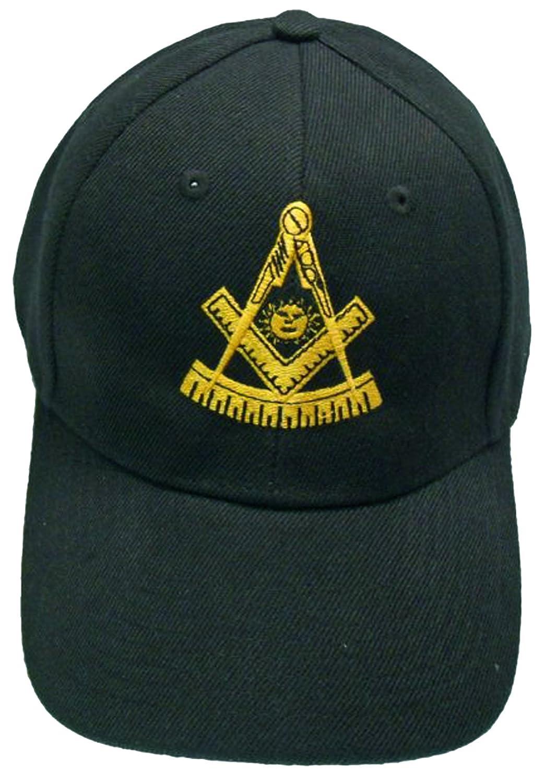 610c7f810 Buy Caps and Hats Past Master Mason Baseball Cap Freemason Hat Mens One  Size Black