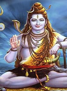 Rectangle Refrigerator Magnet - Hindu God Shiva w/Horn & Snake