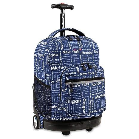 Amazon.com: Kids Azul Road Trip Themed – Mochila con ruedas ...