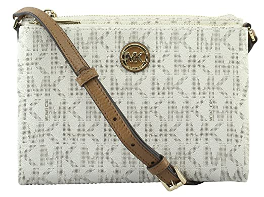 5c30110b82a7f6 Image Unavailable. Image not available for. Color: Michael Kors Signature  PVC Fulton EW Crossbody ...